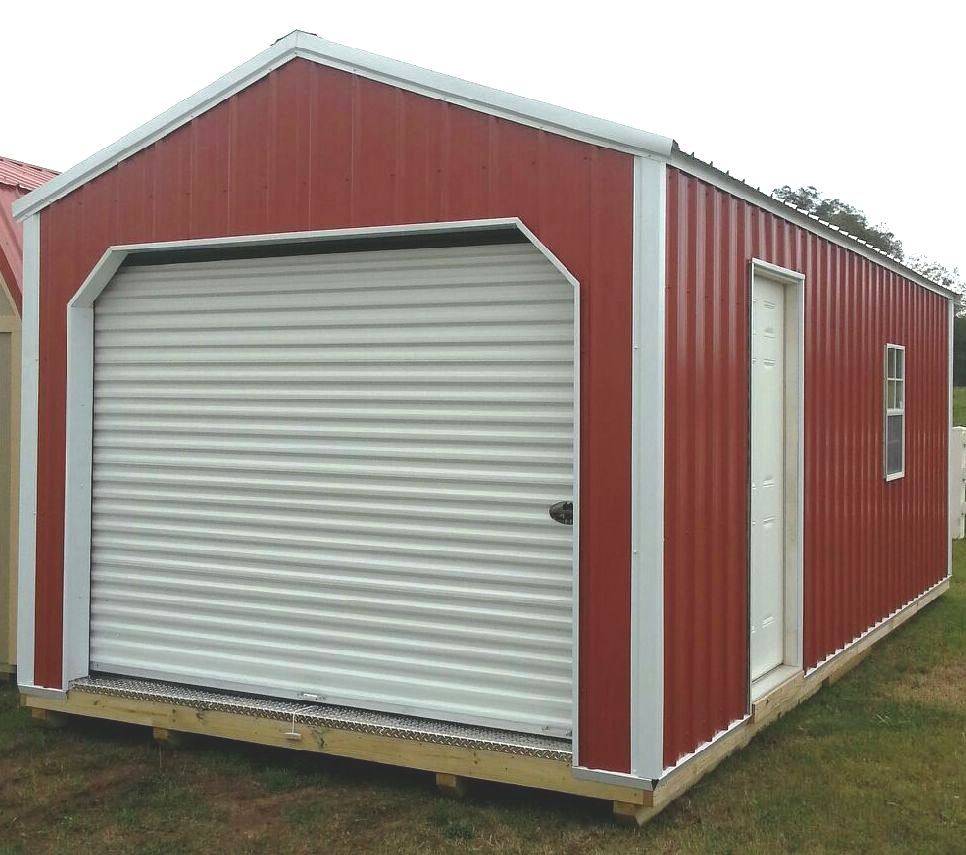 Z metal garage for Aluminum sheds for sale